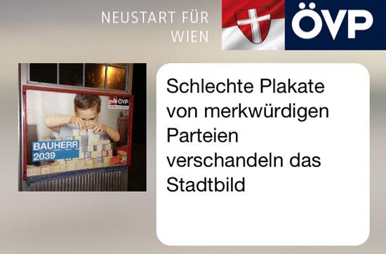 Aufreger in Wien